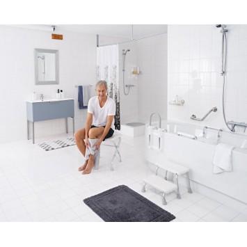 Scaun de baie pliabil  (pliant)cu inaltime reglabila  Ridder suporta max 110 kg A0050301 (Cod 38132)