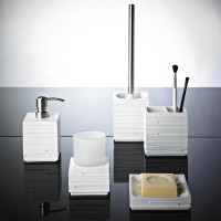 Suport + perie WC  gama Caramida alba Brick Ridder cod 38139
