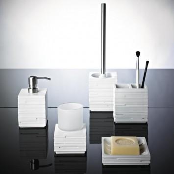 Suport + perie WC  gama Caramida alba Brick Ridder 22150401 (cod 38139)