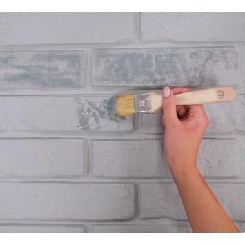 Panouri decorative albe din polistiren Decosa Stone Brick (imitatie caramida) 59,5 cm x 50 cm x 2,5 cm, bax 7 pachete x 0.97m² cod 13115