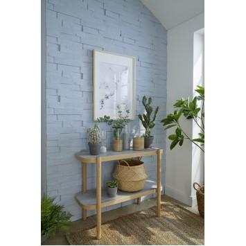 Panouri decorative albe din polistiren Decosa Wood (imitatie lemn) 50 cm x 23 cm, bax 6 pachete x 1m² cod 13113
