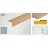 Coltar protectie trepte argintiu (silver)  2020 (20x20mm) x100cm- 10 buc cod 42005