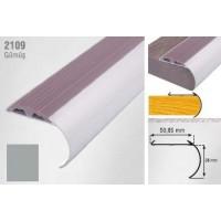 Profil pentru treapta curbat argintiu (silver)  2109 (38x50.85mm) x100cm- 10 buc cod 42170