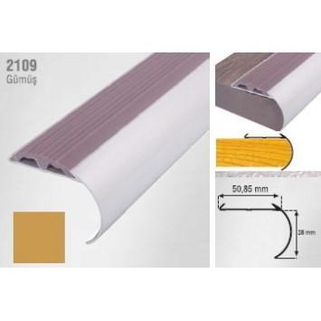 Profil pentru treapta curbat auriu  (gold) 2109 (38x50.85mm)x100cm  cod 42169