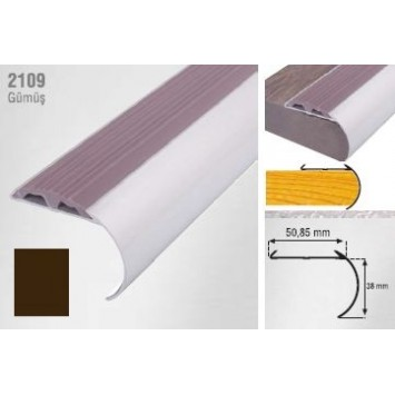 Profil pentru treapta curbat bronz 2109 (38 x 50.85 mm) x100cm cod 42171