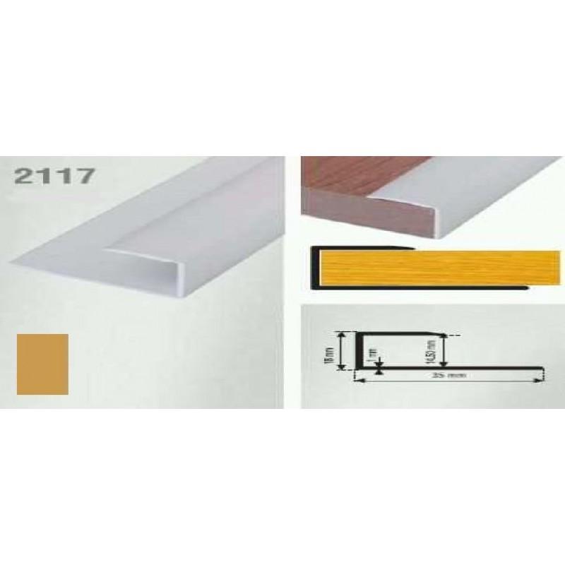 Profil de inchidere auriu (gold) 2117 (18x35mm)x90cm  cod 42121