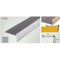 Profil cu cauciuc antiderapant argintiu  (silver) 2120 (30 x 42 mm)x100cm- 10 buc  cod 42011
