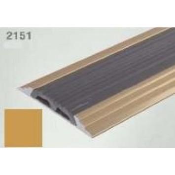 Profil drept pentru treapta cu banda de cauciuc auriu  (gold) 2151 (47 mm) x100cm- 10 buc cod 42124
