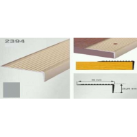 Profil cu rizuri pentru trepte argintiu (silver) 2394 (22.5 x 40 mm) x100cm- 10 buc cod  42018