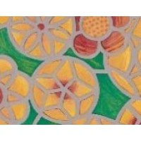 Autocolant d-c-fix vitraliu Flori bej 67.5x15m cod 200-8191