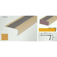 Profil pentru treapta auriu (gold) 2853 (23x53mm) x100cm- 10 buc cod 42167