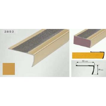 Profil pentru treapta auriu (gold) 2853 (23 x 53 mm) x100cm- 10 buc cod 42167