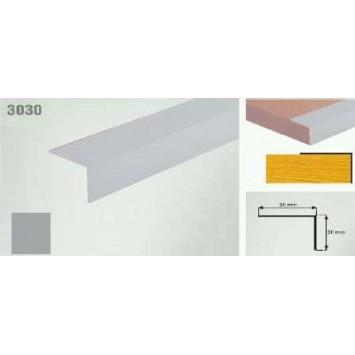Coltar protectie trepte argintiu (silver)  3030 (30x30mm) x100cm- 10 buc cod 42156