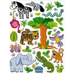 Sticker d-c-fix pentru copii minifun animale jungla 65x85cm cod 350-0206