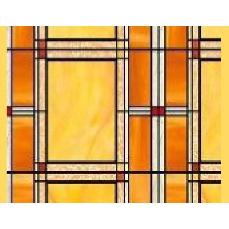 Autocolant d-c-fix  Vitraliu Dreptunghiuri maro 45cm x 15m cod 200-3012