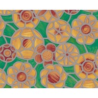 Autocolant d-c-fix vitraliu Flori beige 45cm x 15m cod 200-2795