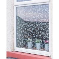 Autocolant d-c-fix static transparent Flori albe 45cm x 15m cod 218-0013