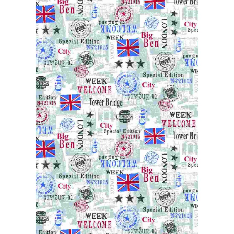 Autocolant d-c-fix Trendy Londra steaguri si stampile 45cm x1.5m cod 343-1015
