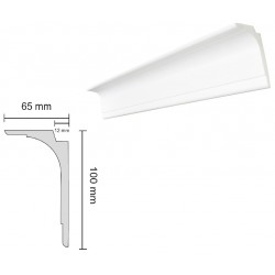Baghete Decorative Polistiren L100 compatibile LED, multifunctionale Decosa (65x100mm) x 25buc cod 13105