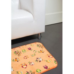 Covoras universal Merlino Fantasia portocaliu cu bufnite 50cmx75cm cod 40020
