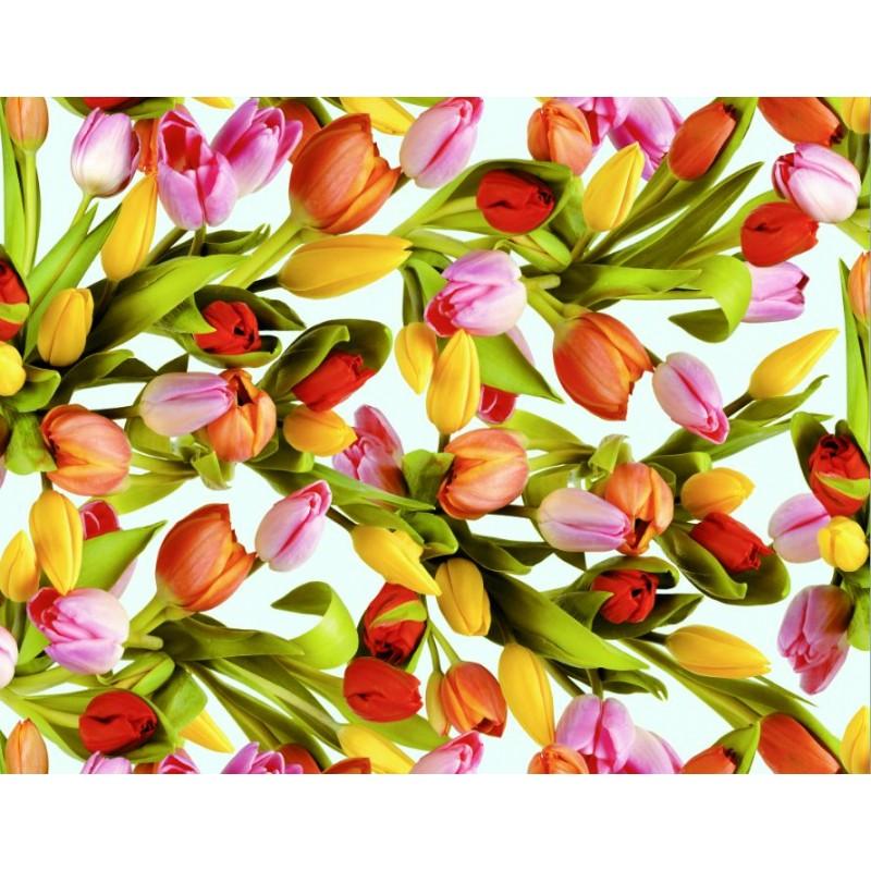 Fata de masa musama rola Gekkofix Tulips (lalele) 140cmx20ml 19218