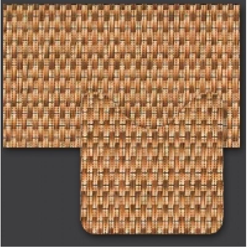 Set baie Friedola imitatie impletitura antiderapant maro din spuma PVC 2 covorase 80x48cm+48x48 cm cod 79615