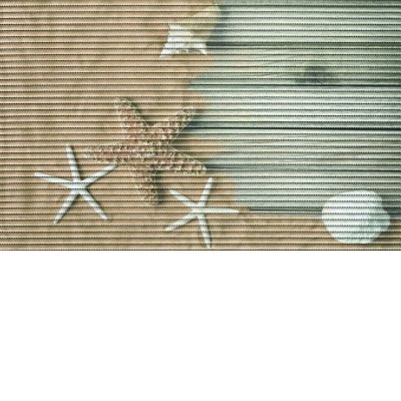 Covoras baie Friedola Starfish antiderapant model marin dreptunghiular din spuma PVC 48x80 cm cod 77702