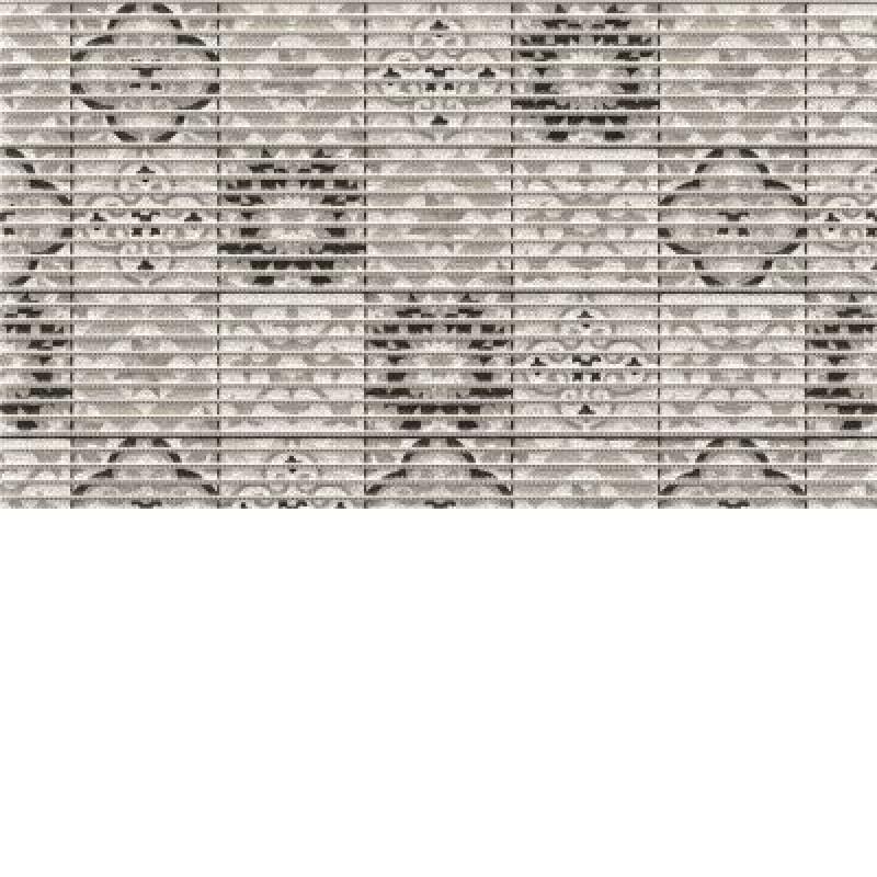 Covoras baie Friedola Tile Antique antiderapant nuante de gri dreptunghiular din spuma PVC 48x80cm cod 77715