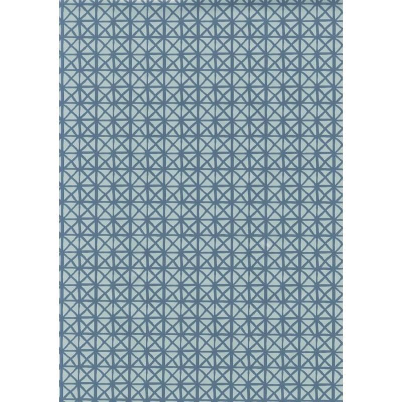 Fata de masa musama rola Gekkofix Andy  Gri cu romburi albastre 140cmX20ml
