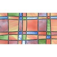 Autocolant Gekkofix  Vitraliu Tranparent Barcelona Multicolored, 67.5cmx15m cod 11805