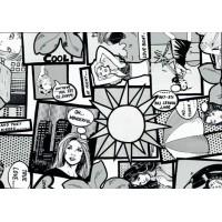Autocolant Gekkofix  Benzi desenate Comics 67.5cmx15m cod 11942