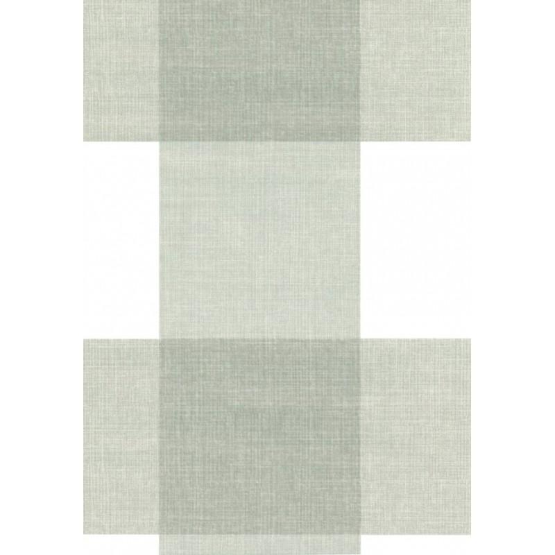 Fata de masa musama rola Gekkofix Max alb cu carouri gri 140cmx20ml 19337