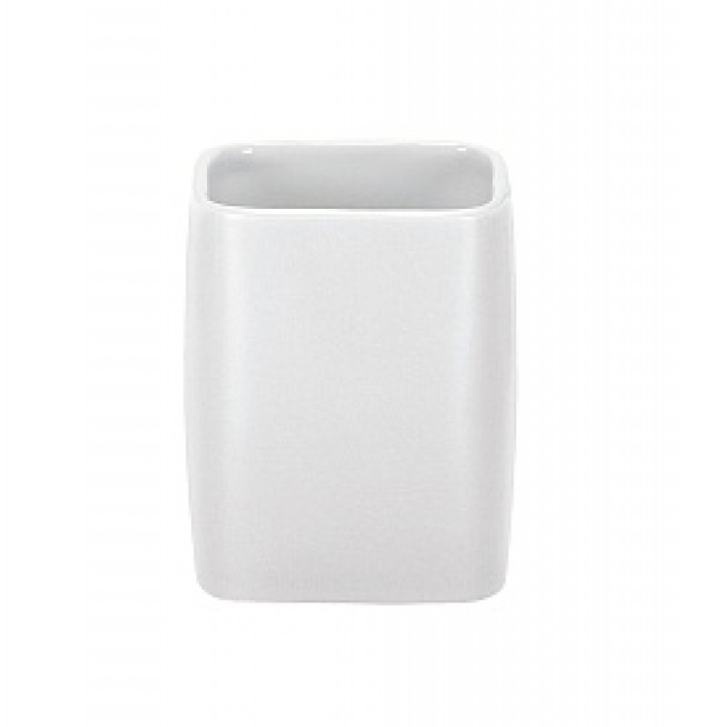 Suport pentru periuta de dinti Kleine Wolke Cubic Alb ceramica 2.9x11.1cm cod 34057