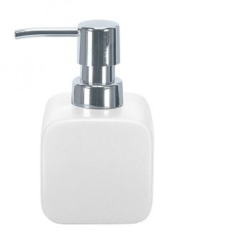 Dozator sapun lichid Kleine Wolke Cubic Alb ceramica 260ml cod 34059