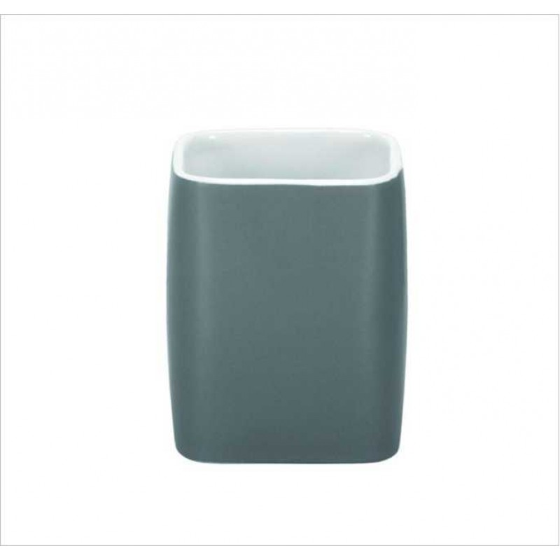 Suport pentru periuta de dinti Kleine Wolke Cubic Antracit (Gri inchis)  ceramica 2.9x11.1cm cod 34069