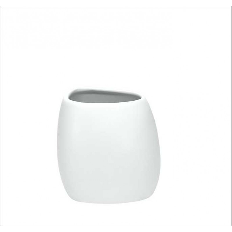 Suport pentru periuta de dinti Kleine Wolke Ethno alb ceramica 2,8 x 12,2 cm cod 34074