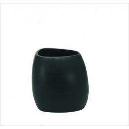 Suport pentru periuta de dinti Kleine Wolke Ethno negru ceramica 2,8x12,2cm cod 34078