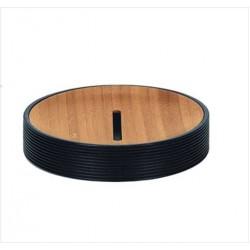 Sapuniera Kleine Wolke Kyoto negru ceramica cu interior lemn 11,00x6,6cm cod 34086