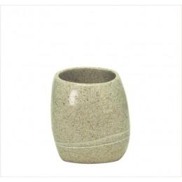 Suport pentru periute de dinti Kleine Wolke Stones bej ceramica 2x12,8cm cod 34160