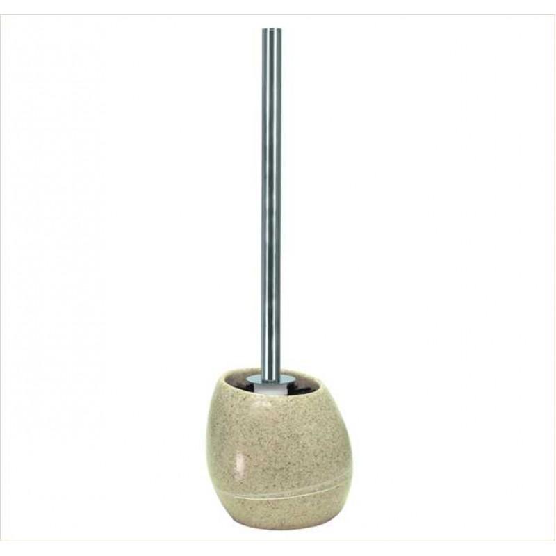 Perie WC Kleine Wolke Stones bej ceramica 39x12.5cm cod 34162