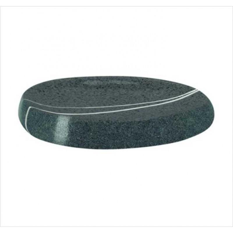 Sapuniera Kleine Wolke Stones gri inchis ceramica 9,5x8,5cm  Cod 34163