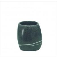 Suport periuta de dinti Kleine Wolke Stones gri inchis ceramica 2x12,8cm cod 34164