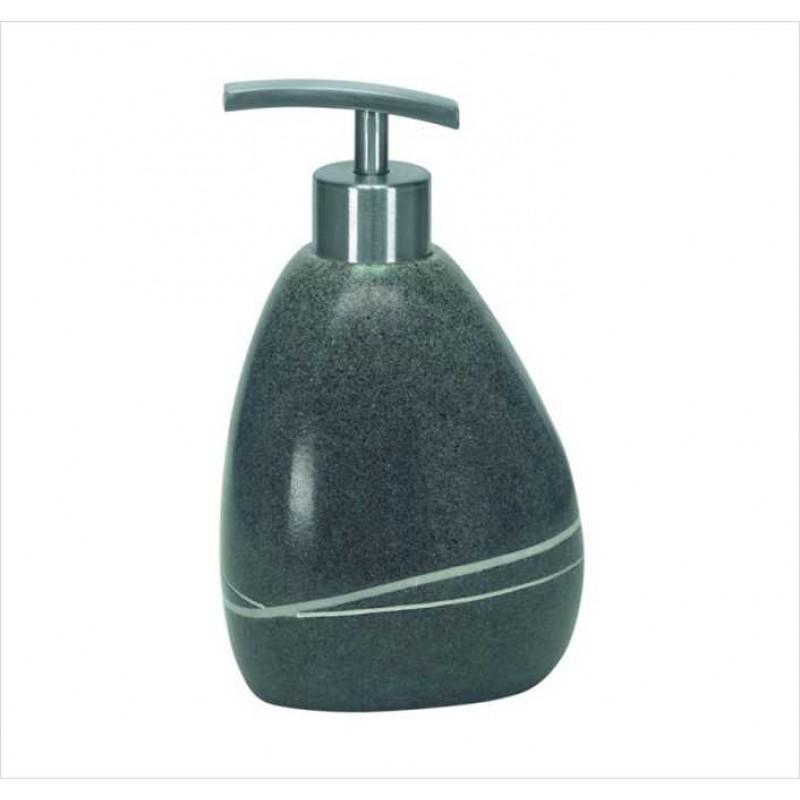 Dozator sapun lichid Kleine Wolke Stones gri inchis ceramica 260 ml  cod 34165