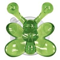 Carlig agatatoare  baie pentru copii Butterfly verde cod  34002 (set 4 buc)