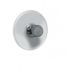 Carlig agatatoare de baie cu ventuze Sevilla argintiu (set 4 bucati)  cod  34168