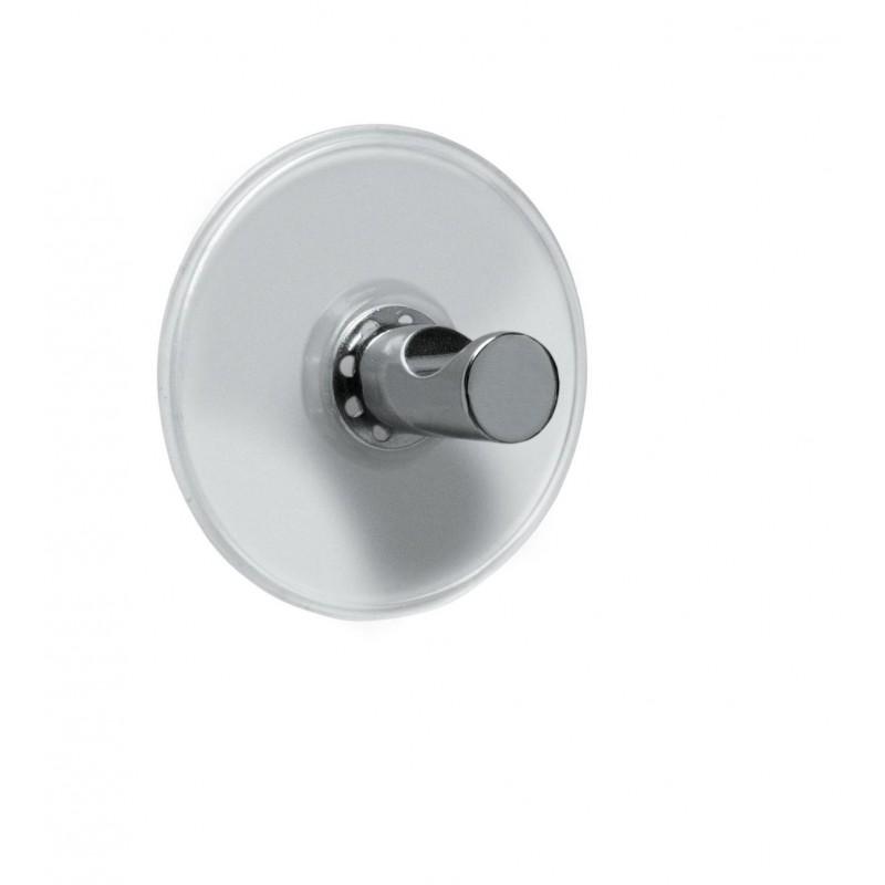 Carlig agatatoare de baie cu ventuze Cordoba argintiu (set 4 bucati) cod 34169
