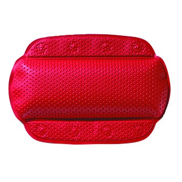 Set baie Kleine Wolke antiderapant cu ventuze Calypso perna si covoras de culoare rosie 100% pvc perna 32x72cm covoras 36x72cm cod 34039