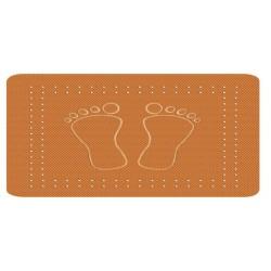 Covoras baie  Kleine Wolke Foot portocaliu  dreptunghiular 100% cauciuc natural 36x72cm cod 34045