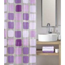 Perdea de dus  Kleine Wolke patrate violet (mov) Sonny Violet din plastic ecologic cod 34179