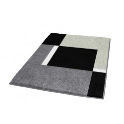 Covoras baie Kleine Wolke Dakota platinium nuante de gri dreptunghiular 100% polyacryl 60x90cm cod 34195